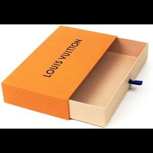 Louis Vuitton orange wallet box